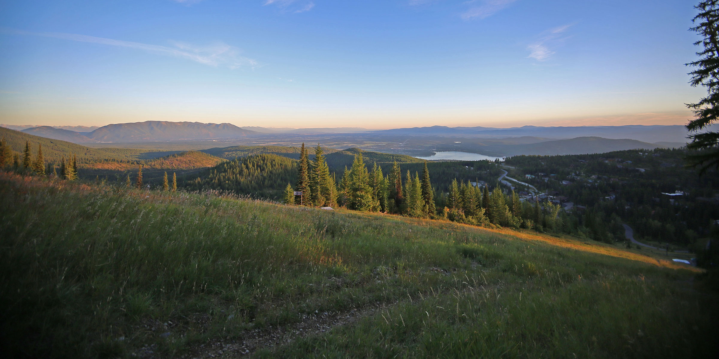Looking south down the Flathead Valley